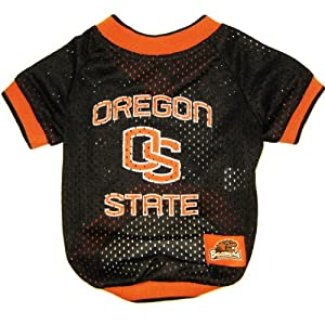 Oregon State Beavers Dog Jersey Leash & Collar Set Small by Miage Pet Products