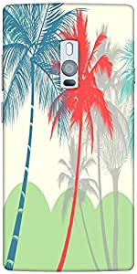 Snoogg Hawaii Designer Protective Back Case Cover For One Plus Two