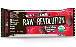 Raw Revolution Organic Live Food Bar, Chocolate Raspberry Truffle, 1.8-Ounce (Pack of 12)