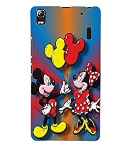 ColourCraft Lovely Cartoon Couple Design Back Case Cover for LENOVO K3 NOTE