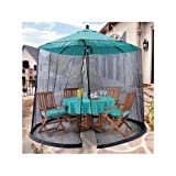 Canopy Mosquito Umbrella Patio Table Set Screen House