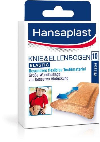 Hansaplast Ellenbogen Strips 72 x 60 mm, 5er Pack (5 x 10 Stück)