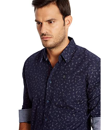 Pepe Jeans London Camicia Uomo Wood [Blu Scuro]