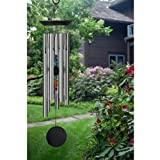 Woodstock Chakra Windchime with 7 Stones, 24.5-Inch