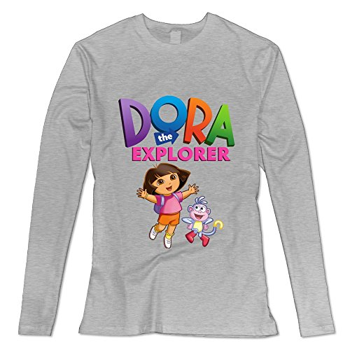 [Seico Lady Dora The Explorer Boots T-shirts Ash Size XXL] (Swiper Costumes For Adults)
