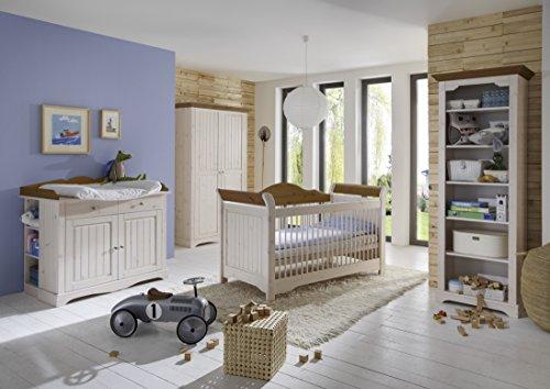 Steens Group 3301450264000F Provence Etagère à Livres Bois Pin Massif Blanc 44 x 71 x 202 cm