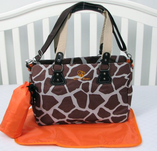 SOHO Giraffe Diaper Bag 3 in 1 with changing pad & Bottle case - 1