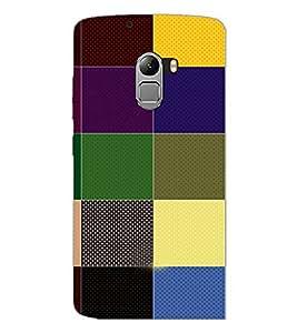 PrintDhaba Coloured blocks D-4830 Back Case Cover for LENOVO VIBE X3 c78 (Multi-Coloured)