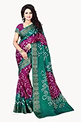 Purple Colored New AttractiveBandhani Saree