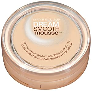 Maybelline York Dream Smooth Mousse Foundation, Creamy Natural, 0.49 Ounce