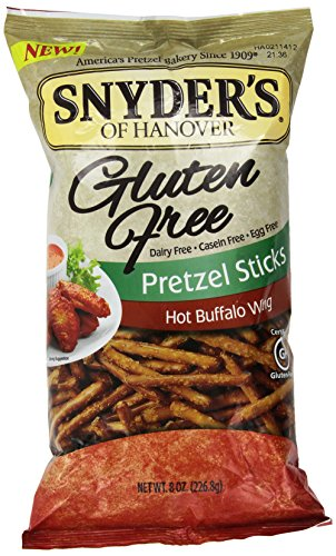 Snyder's of Hanover Gluten Free All Natural Pretzel Hot Buffalo Wing Sticks 8oz (Gluten Free Snyders compare prices)
