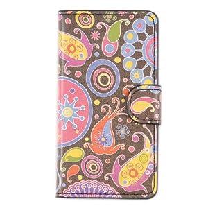 tinxi® PU Kunst Leder Tasche für Sony Xperia Z1 Compact / mini Tasche Flipcase Schutz Case Cover Standfunktion mit Karten Slot Quall Muster (nicht für Sony Z1 geeignet)