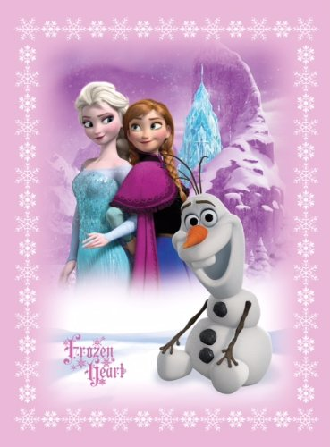 Disney Frozen Anna & Elsa & Olaf Baby Blanket With Sherpa front-466058