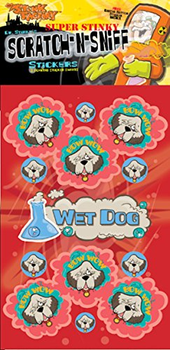 Scratch-N-Sniff Stickers- Wet Dog