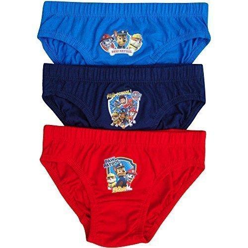Ragazzo & Bambini PAW Patrol Mutande Slip A Vita Bassa Set Pantaloni (Confezione Da 3 Paia) - cotone, Multicolore, 100% cotone 100% cotone, Ragazzo, 2-3 Years, Multicolore