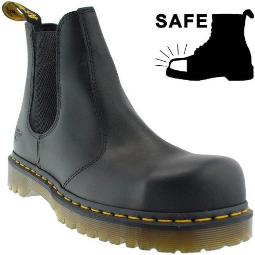 Dr. Martens 2028 CHELSEA 10290001 BLACK goodyear en cuir véritable SB chaussures EUR 39 / UK 6 en acier (noir/noir)