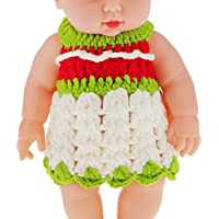 "Magideal 11"" Lifelike Baby Dolls Silicone Vinyl Soft Newborn Doll In Knit Suit"