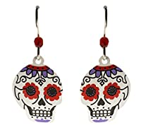 Sienna Sky Day of the Dead Sugar Skull Earrings 1767 from Left Hand Studios