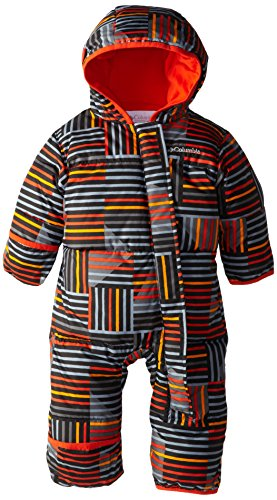 Columbia Baby Boys' Newborn Snuggly Bunny Bunting, State Orange Print, 6/12
