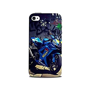 Mikzy Suzuki Sports Bike Printed Designer Back Cover Case for Iphone 4/4S (MultiColour)