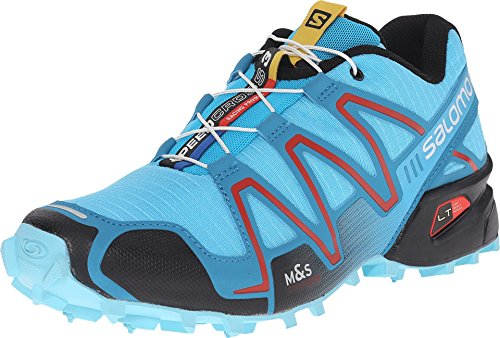 Salomon SpeedCross 3 Trail Running Shoe - Women's Azurin Blue/Fog Blue/Radiant Red, 10.5 (Speedcross 3 compare prices)