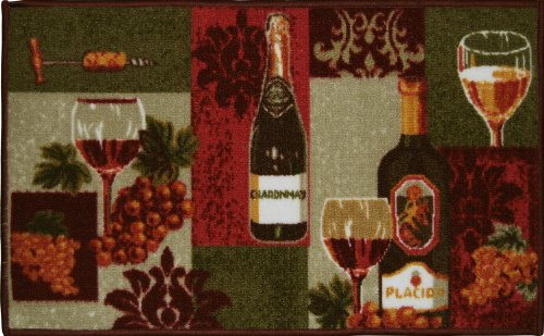 LIVING CLASSICS WINE BOTTLES KITCHEN RUG