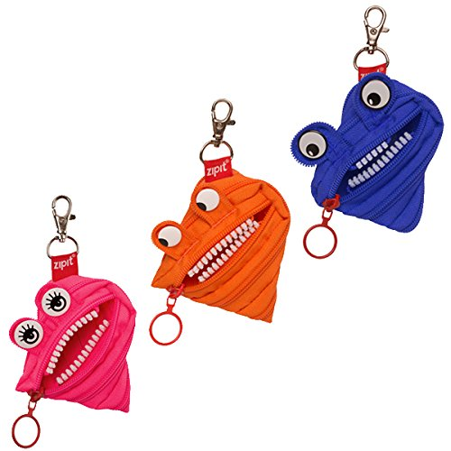 ZIPIT Monster Mini Pouch Coin Purse, 3-Pack