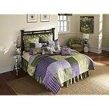 Donna Sharp Vineyard Square Quilted Cotton King Sham, Purple/Green