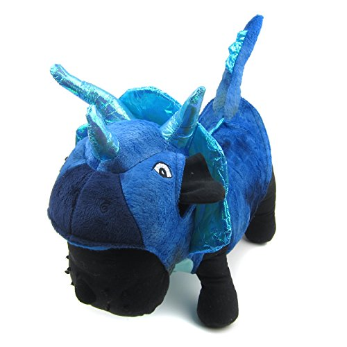Alfie Pet by Petoga Couture - Brett the Triceratops Costume - Color: Blue, Size: Large