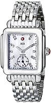 MICHELE Deco 16 Stainless Steel White Diamond Dial Bracelet Watch