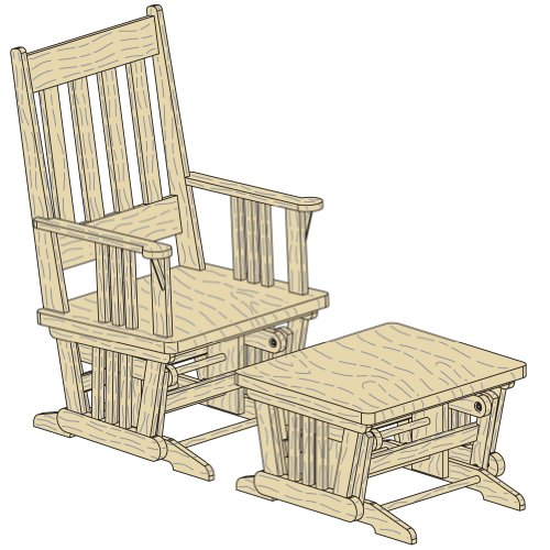 Platte River 124094, Hardware, Furniture, Miscellaneous, Glider/Rocker ...