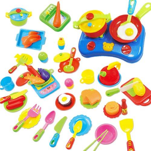 ZGY-Kchen-Spielzeug-Set-60-teilig-mit-Messer-Gabel-Teller-Messknnchen-Herd-Pfanne-und-Schssel-das-besondere-Geschenk