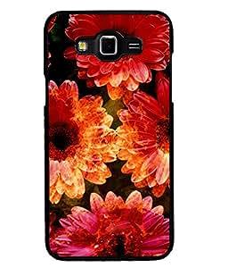 Fuson 2D Printed Flower Designer back case cover for Samsung Galaxy Grand 3 - D4481