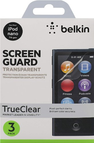 F8W233CW3 Screen Overlay für Apple iPod Nano 7G 3-er Pack klar