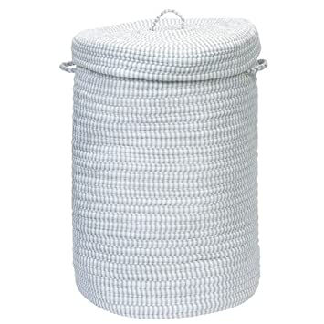 "Ticking Stripe- Gray 16""x 24"" Hamper"