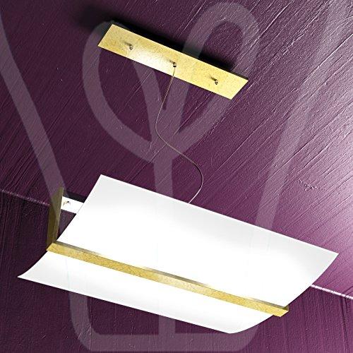 SOSPENSIONE TOP LIGHT MODELLO GLASS & GOLD 1019/S50 - FO (FOGLIA ORO)