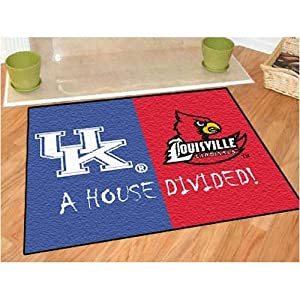 Kentucky Wildcats Louisville Cardinals House Divided NCAA All-Star Floor Mat (34x45) by Fanmats