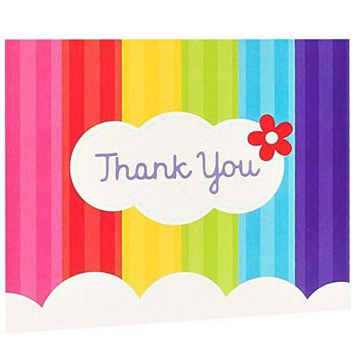 Party Destination 228984 Rainbow Wishes Thank-You Notes