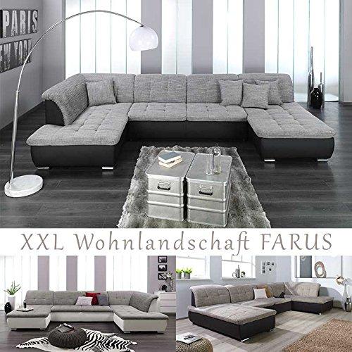 Xxl Wohnlandschaft Couchgarnitur Farus U Form Versch Farben
