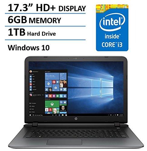 2016 Newest HP Pavilion 17 inch Laptop (Intel Core i3 2.2GHz Processor, 6GB DDR3 RAM, 1TB HDD, 17.3″ HD+ BrightView LED-Backlit Display, DVDRW, USB 3.0, HDMI, HD Webcam, B&O Audio, Windows 10)