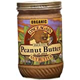 Organic Valencia Smooth No Salt Peanut Butter -Pack of 12