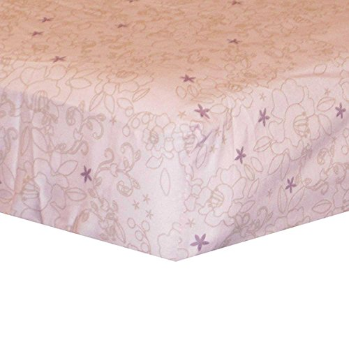 Kidsline Basics Collection Crib Fitted Sheet - Pink Floral