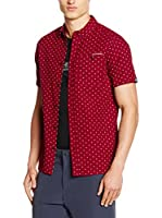 Craghoppers Camisa Hombre Short Sleeved (Burdeos)