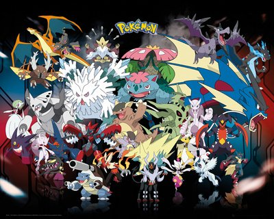 GB eye-Stampa con cornice, 40 x 50 cm-Mega Pokemon-Mini poster, multicolore