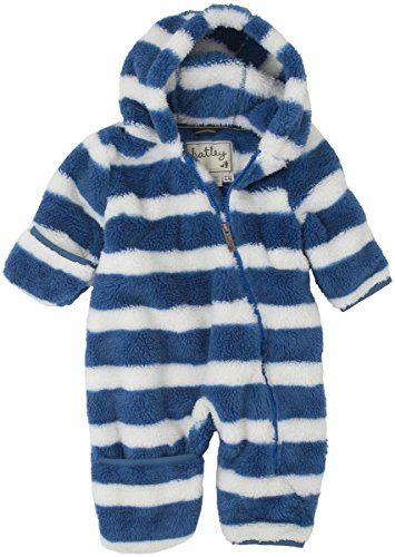 Hatley - Baby Boys Newborn Fuzzy Fleece Bundler - Royal Stripe, Multi, 3-6 Months back-966247