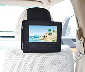 Tfy Car Headrest Mount For Swivel & Flip Style Portable Dvd Player-7 Inch