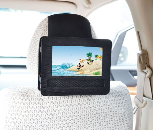 Car Headrest Mount for Swivel & Flip Style Portable DVD Player-7 Inch
