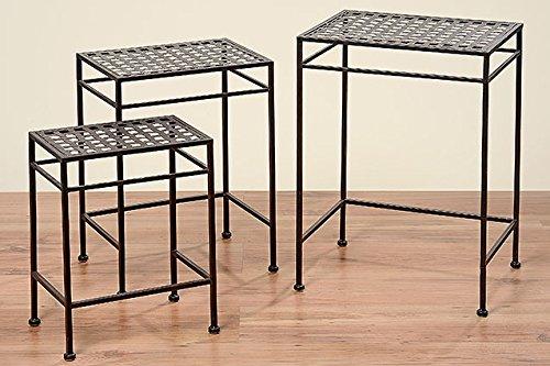 Beistelltisch Tisch Fugo eckig L40cm Eisentisch Gartentisch Pflanztisch günstig kaufen
