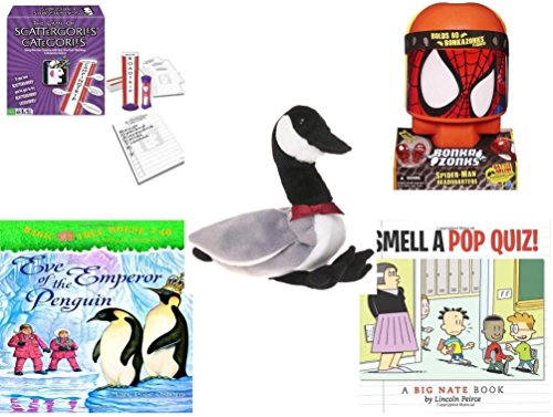 [Children's Fun & Educational Gift Bundle - Ages 6-12 [5 Piece] - Includes: Game - Toy - Plush - Hardcover Book - Paperback Book - Item No.] (Things That Start With The Letter B)
