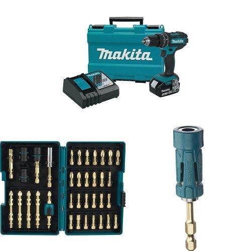 Makita XPH102 18V LXT Lithium-Ion Cordless 1/2″ Hammer Driver-Drill Kit (3.0Ah),